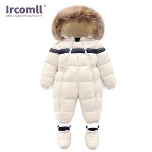 Image 5 - חדש רוסיה חורף תינוקות תינוק ילד הילדה Romper לעבות תינוק חליפת שלג Windproof חם סרבל לילדים בגדים לפעוטות תלבושת