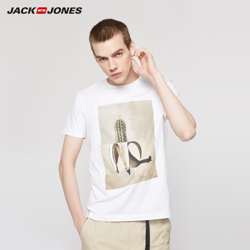 JackJones Men's Printed Short-sleeved T-shirt Style| 219201527