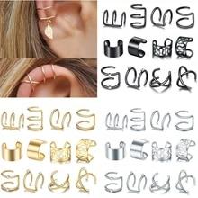 12pc Stainelss Steel Clip On Ear Cuff Earrings Fake Cartilage Earrings Lot Non Piercing Clip On Earrings Set Earrings For Women