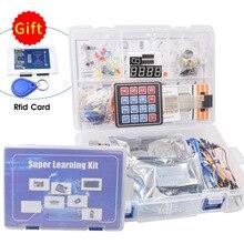 Kit de iniciación completo para Arduino R3, tarjeta Rfid, módulo de relé, Sensor ultrasónico, incluye Tutorial