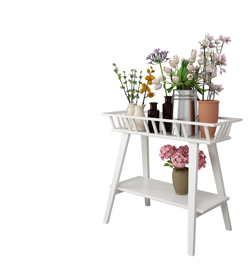 Flower shelf indoor floor living room shelf home green flower pot balcony Nordic wrought iron multi-layer flower stand