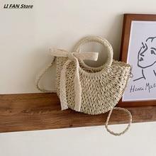 Женская сумочка мода сумки на ремне Crossbody сумки для женщин сумки соломы сумка женщины сумка пляжная сумка кошелек женский