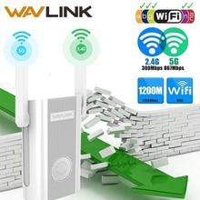 مقوي إشارة Wavlink واي فاي مقوي مكرر إشارة 1200Mbps 2.4G + 5Ghz ثنائي النطاق واي فاي مكبر للصوت مكرر/نقطة وصول لاسلكية