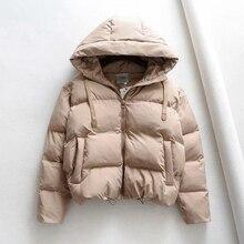 Chaqueta acolchada de algodón con capucha para mujer, Parkas cálidas, abrigo de talla grande, gruesa, informal, acolchada, para invierno