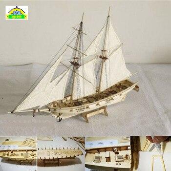 Wooden Assembled Sailing Antique Battleship Mdel Kits 1840 Harco Wooden Assembly Sailing Vessel DIY Classical Sailing ModelC фото