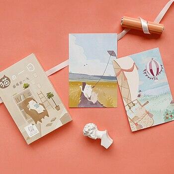 цена 30 Pcs/lot Kawaii Cat's day Postcard Set Greeting Card Envelope Gift Greeting Card Wish Card New Year Gifts Business Card онлайн в 2017 году