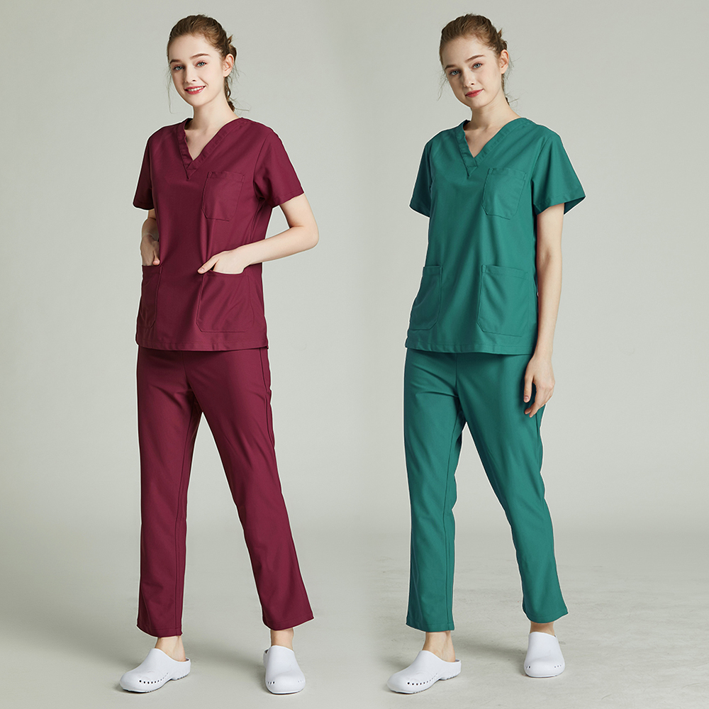 Pet Hospital Nurse Uniform Set Surgery Uniform Dental Clinic Beauty Salon Pharmacy Workwear Nursing Uniform Scrubs New Lab Coat