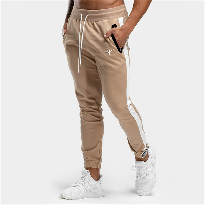 2019 Mens Brand Jogger Sweatpants Man Gyms Workout Fitness Cotton Trousers Male Casual Fashion Skinny Black Track Pants