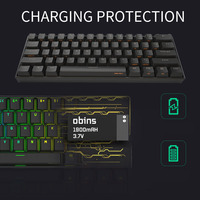 61 Keys Portable Type C Accessory Mini Gaming PC Wireless Backlit RGB Office Bluetooth 4.0 USB Laptop Mechanical Keyboard