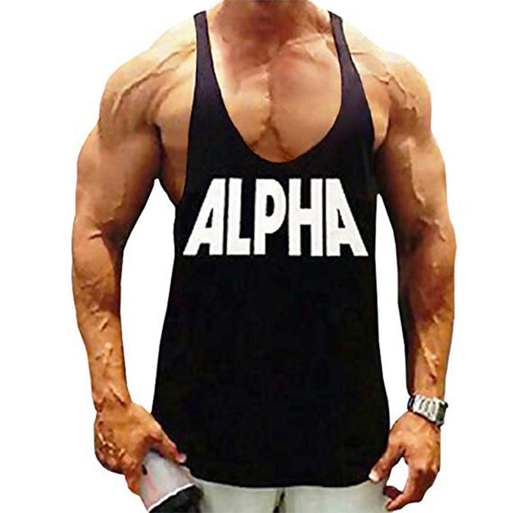 Mens Racerback Y-Back T-Back Muscle Gym Bodybuilding Fitness Singlet Tank Top