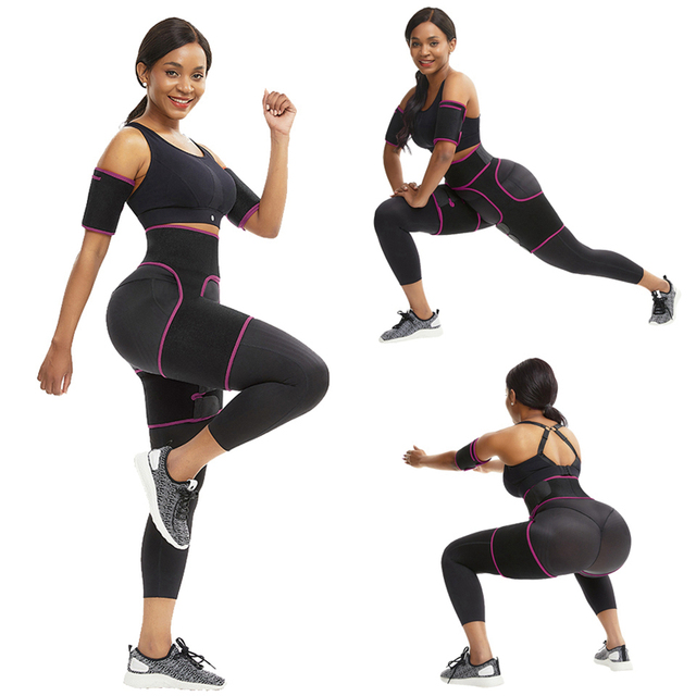 Slim Thigh Trimmer Leg Shapers Slender Slimming Belt Neoprene Sweat Shapewear Toned Muscles Band Thigh Slimmer Wrap 5