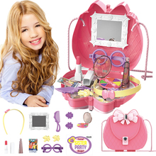 Baby Girls Pretend Play Makeup Bags Simulation Dresser Beauty Cosmetics Kitychen Kit Toys For Kids Role Game
