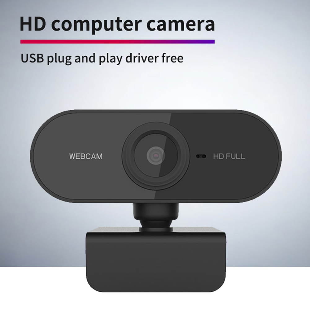 HD 1080P Webcam Mini Computer PC Web Camera USB Plug Rotatable Cameras With Mic for Live Broadcast Video Calling Conference Work
