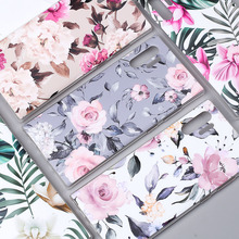 Fashion Matte Flower Phone Case for Samsung Note 10 Plus Soft TPU Silicone Leaves Back Cover S8 S9 S10E Fundas