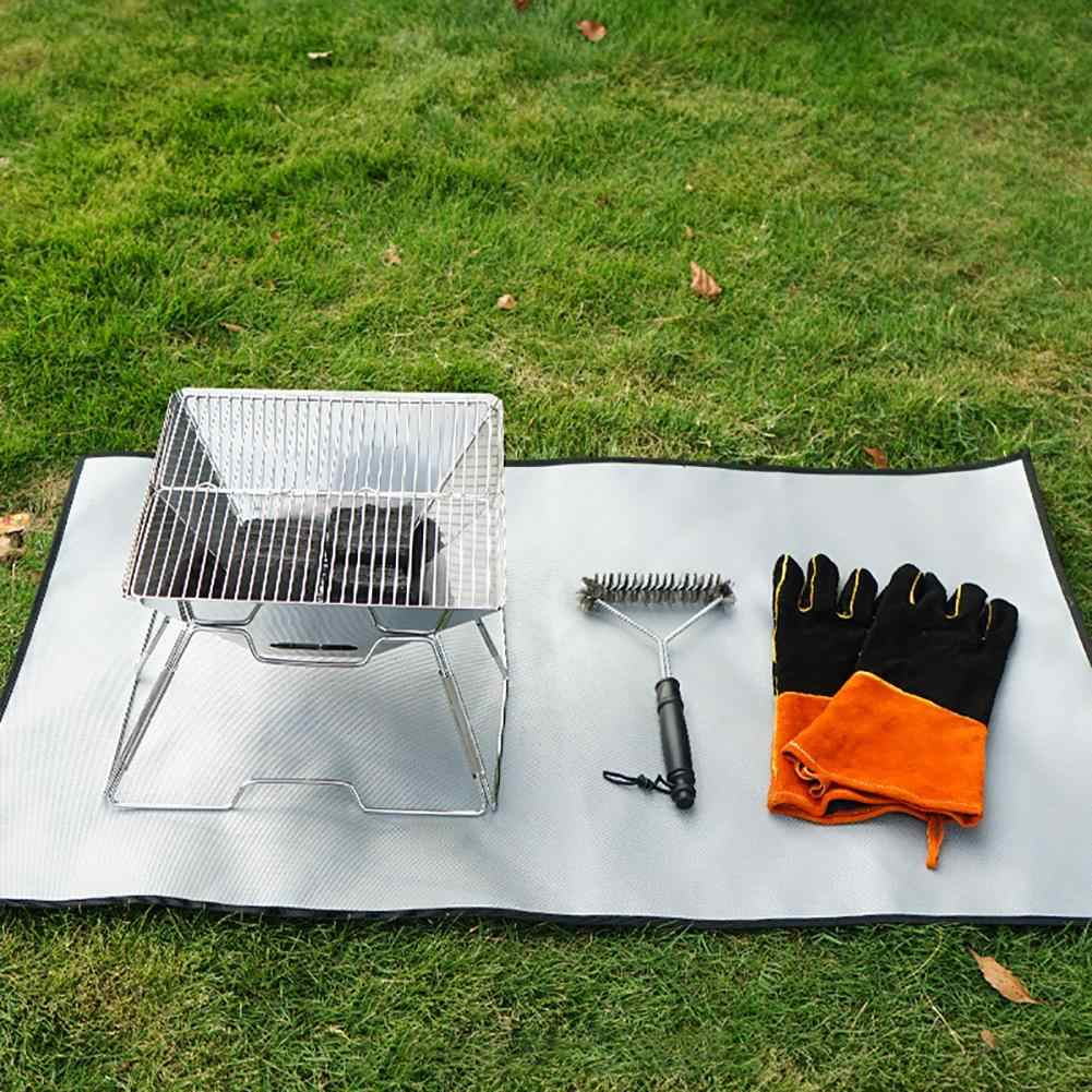 Fire Pit Mat Grill Protect Your Deck Patio Lawn Campsite Low Impact Outdoor Outdoor Cooking Eating Home Garden
