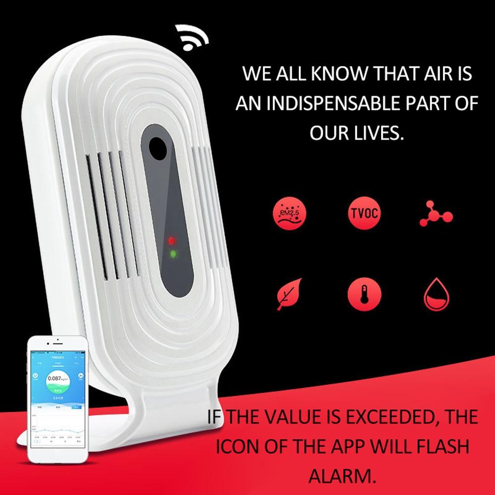 Интеллектуальный Wi-Fi бытовой идентификатор CO2 HCHO TVOC анализатор качества воздуха, детектор, датчик, монитор температуры и влажности