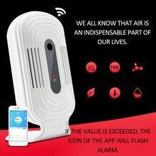 Wi fi inteligente casa medidor de fumaça co2 hcho tvoc qualidade do ar análise tester detector sensor temperatura monitor umidade