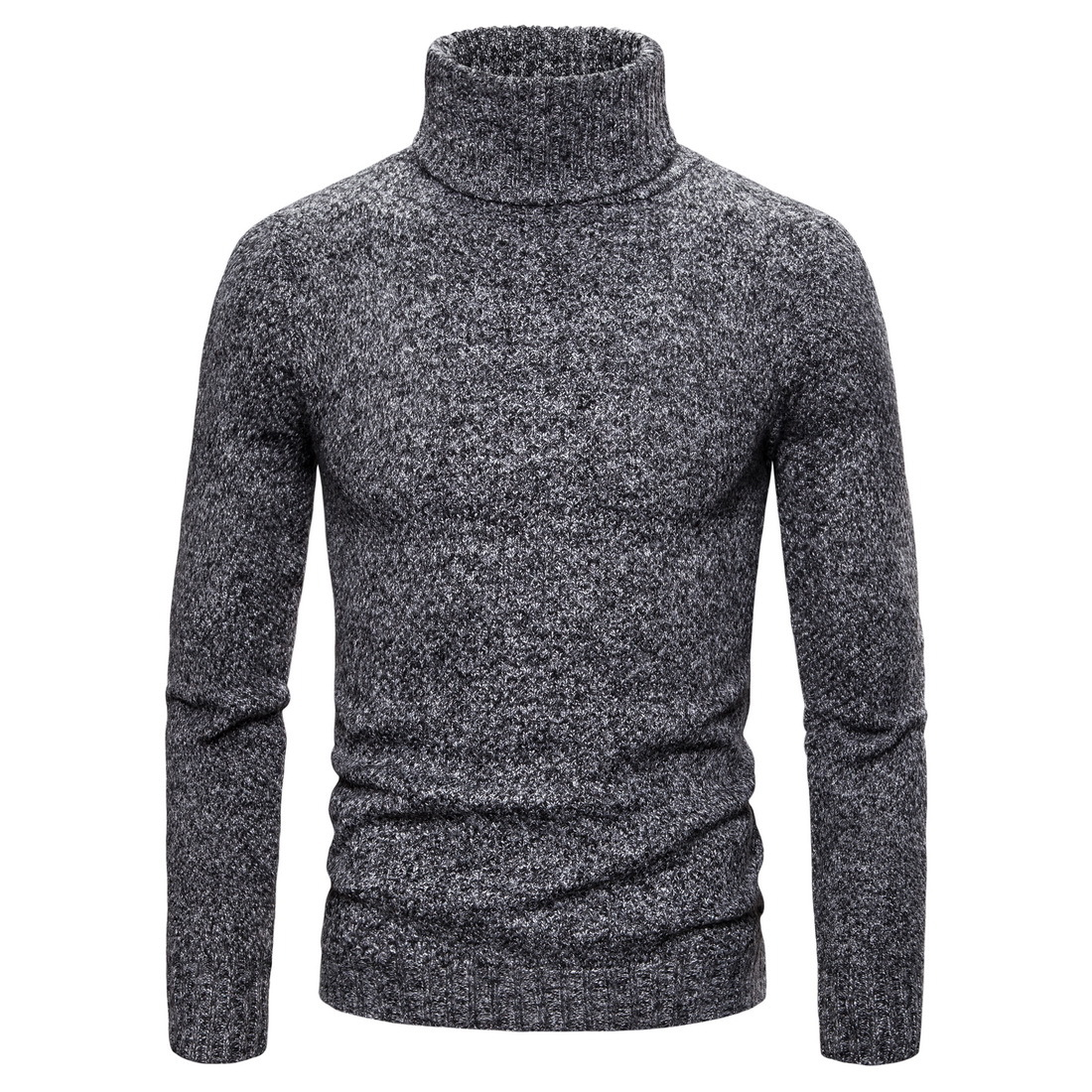 Sweater Men New Autumn/winter Slim Solid Colour Turtleneck Pullovers Knit Sweaters Pull Homme