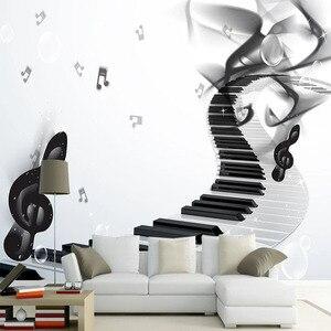 3D обои на заказ, современные модные музыкальные фотообои, абстрактный художественный фон, настенные наклейки, 3D самоклеящийся водонепрониц...