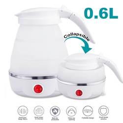 Электрический чайник, силиконовый, для путешествий, мини, складные, электрические чайники, 220 В, 680 Вт, портативный, бойлер для воды, складной, ...