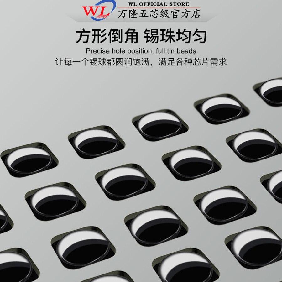 WL BGA Reballing Stencil Tin Planting Steel Mesh for iPhone X-11Pro max Face ID/Dot Matrix/Original Color/Tail Plug Small Plate 3