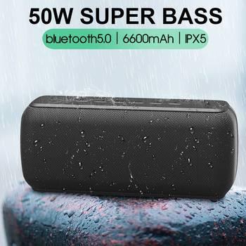 50W bluetooth Speaker Column Soundbar Portable bluetooth 5.0 IPX5 Waterproof TWS Heavy Bass Loundspeaker Subwoofer Boomboxes