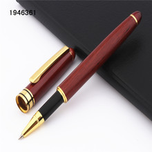 Pen Rollerball School Gift-Pen Listed Wood-Material Business Office Medium-Nib Quality
