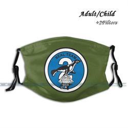 Seal Team 2 Impressão Moda Reutilizáveis Lavável Engraçado Pm2.5 Filtro Boca Vedação da Máscara Facial Máscara Equipe 2 Seal Team Dois Selo equipe Navy Seals