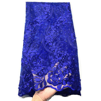 wholesale 5yards 2020 high quality lace tulle lace with stones new  lace fabric nigerian lace fabric for women dress african