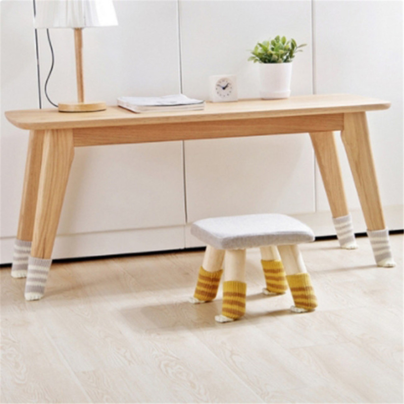 Durable Knitted Table Chair Leg Cover 4Pcs Chair Table Foot Sock Floor Protection Non-slip Table Legs Home Furniture Protector