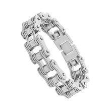 лучшая цена punk silver men's bracelets 2019 bracelet Stainless Steel biker bracelet men Jewelry fashion braclets Gift for a man wholesale