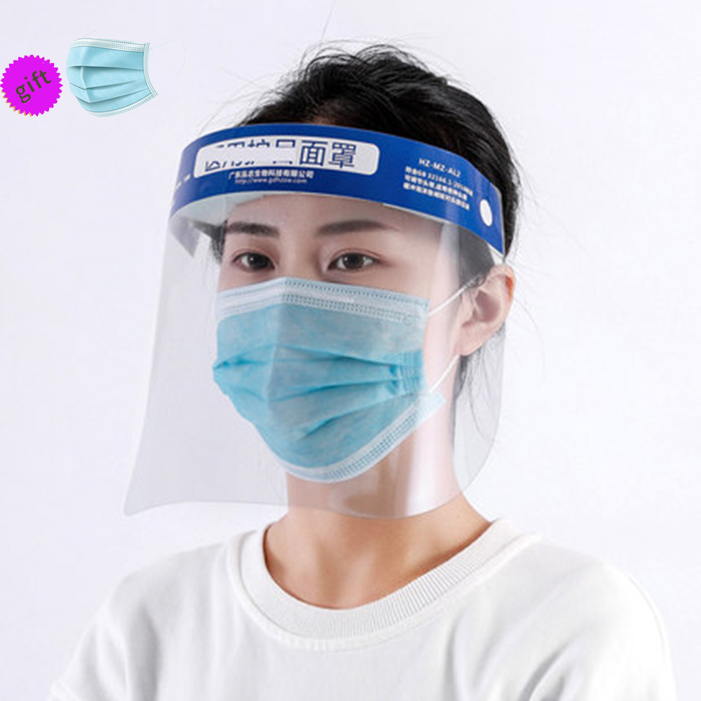 Clear Transparent Face Mask Full Face Shield  Spitting Provention Board Dust Provention Eye Protect