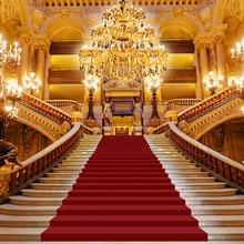 Fondo de vinilo para boda fotografía clásico Palacio alfombra roja vintage escalera profesional fondos fotomatón Estudio de fotos