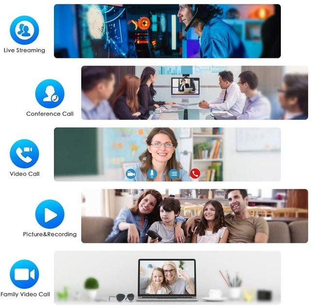 Webcam 1080P 720P 480P Full HD Web Camera Built-in Microphone USB Plug Web Cam For PC Computer Mac Laptop Desktop YouTube Skype 6