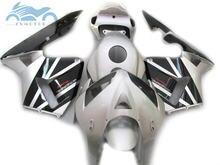 100% fit Injection fairing kit fit for Honda CBR600RR 2005 2006 CBR 600 RR 05 06 ABS fairing kits silver black bodywork JK14