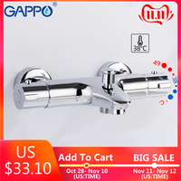 GAPPO Shower faucets thermostatic bath mixer with thermostat mixer faucets wall mounted waterfall bathtub faucet