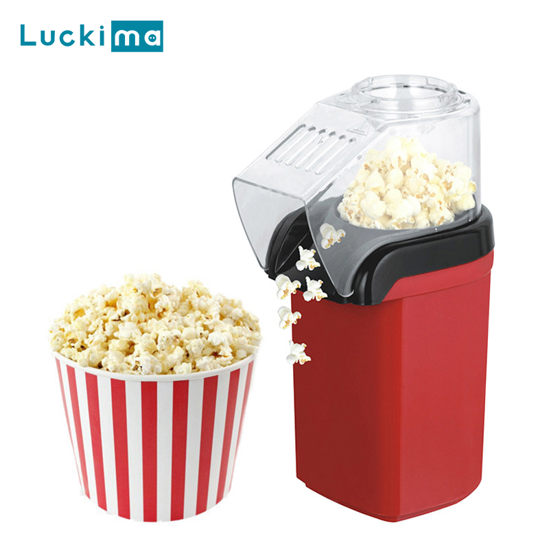 New Home Hot Air Popcorn Popper Maker Microwave Machine Delicious & Healthy Gift Idea for Kids Home made DIY Popcorn Movie Snack