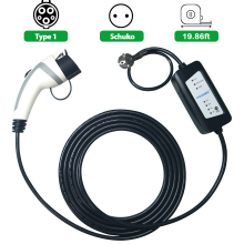YKS-ESNES портативный EV зарядное устройство SAE J1772 16A ЕС стандартный разъем 5 м evse тип 1