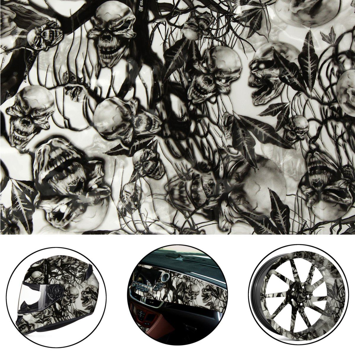 50x100cm Leaves PVA Hydrographic Film Water Transfer Printing Film Hydro Dip Style Decals Stickers
