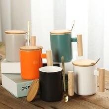Простая кружка художественная чашка кофейная креативная деревянная