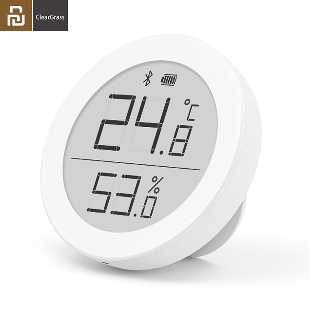 Youpin Cleargrass E Link INK Screen Bluetooth Temperature Smart Humidity Sensor LCD Thermometer Moisture Meter Work Mihome APP