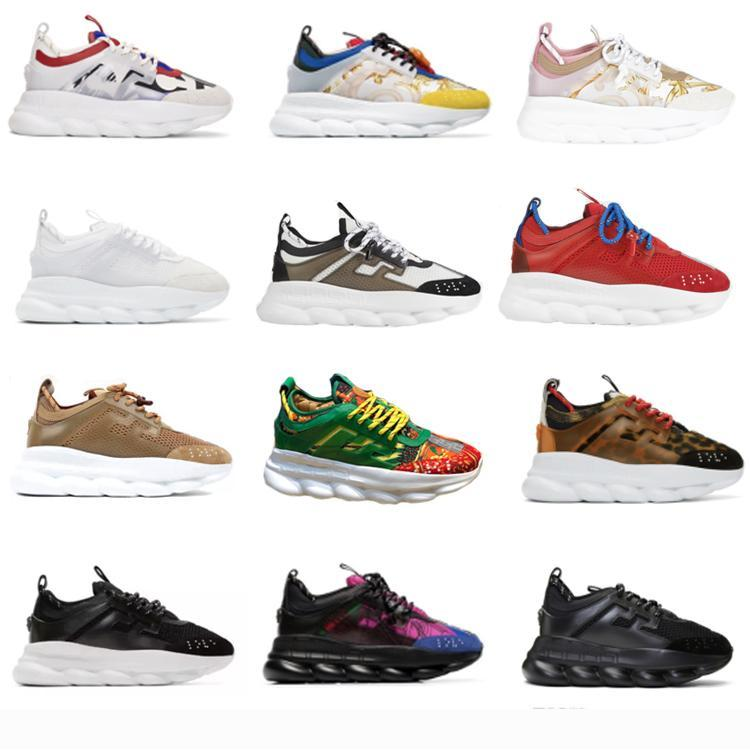Chaines Reaction Sneakes Designer Sneakers Mens Women Sport Shoes Leather Casual Shoes Trainer Lightweight Sole