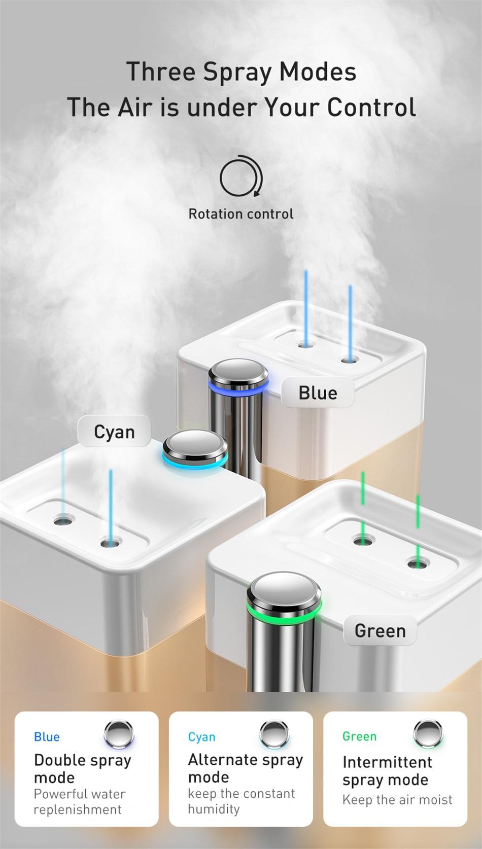 Baseus Time Magic Box Dual Spray Humidifier 7