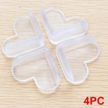 4 шт. защитный уголок в форме сердца для детей, мягкий ПВХ защитный чехол для стола, защитная накладка на край, безопасная подушка