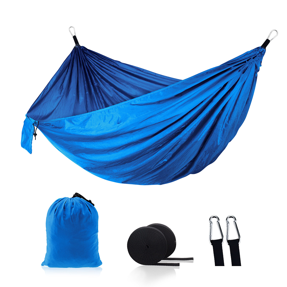 Outdoor Hammock Double Person Survival Hammock W/ Strap For Travel Camping Wooden Swing Chair Camping Hanging Bed Garden