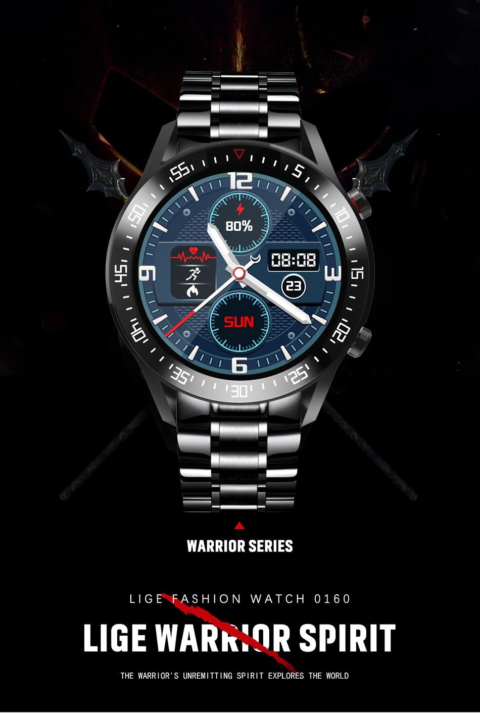 H277ee3d457cc4c8bb92b3ccc250c3d89N LIGE 2021 New Full circle touch screen Mens Smart Watches IP68 Waterproof Sports Fitness Watch Man Luxury Smart Watch for men