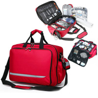 Outdoor First Aid Kit Outdoor Sports Red Nylon Waterproof Cross Messenger Bag Family Travel Emergency Bag DJJB046