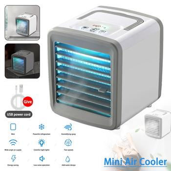 Home Mini Air Conditioner Portable Air Cooler USB Personal Space Cooler Fan Air Cooling Fan Rechargeable Fan Desk