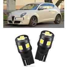 100pc w5w 194 168 Interior luces led de coche para Alfa Romeo 159, 145, 146, 147, 155, 156, 164, 166 33 4C BRERA GIULIETTA GT GTV MITO