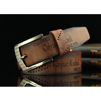High Quality Mens Casual Belt Durable PU Leather Hollow Waistband Wide New Fashion Strap Male Jeans